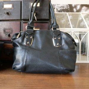 B. Makowsky 100% Leather Black Handbag